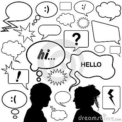 Dialog bubbles vector