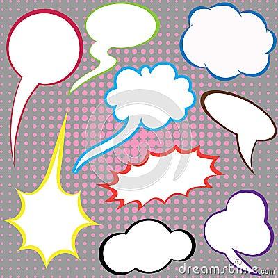 Dialog clouds.