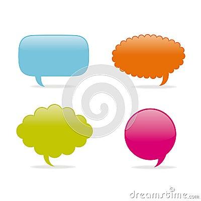 Dialog clouds.  illustration