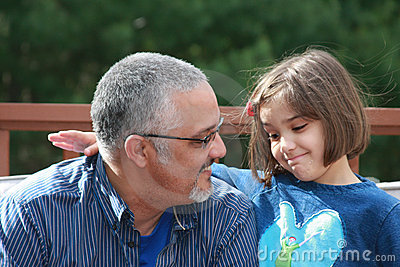 Dialog With Dad Royalty Free Stock Photography - Image: 14343707