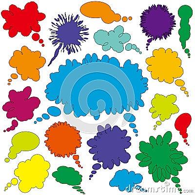 Dialogue bubbles set