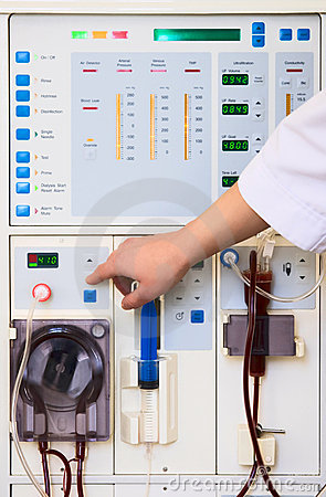 Free Dialysis Device Stock Image - 2451101