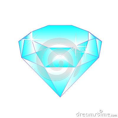 Diamant bleu d 39 isolement sur le blanc photo stock image - Diamant dessin ...