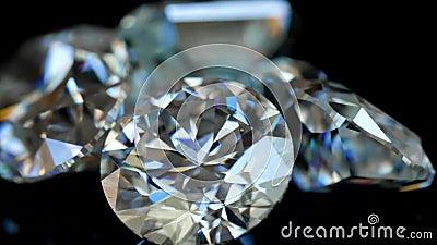 Diamant-Makrovideo stock video