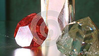 diamante facetado de gemstone filme