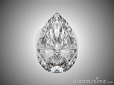 Diamante grande del corte de la pera