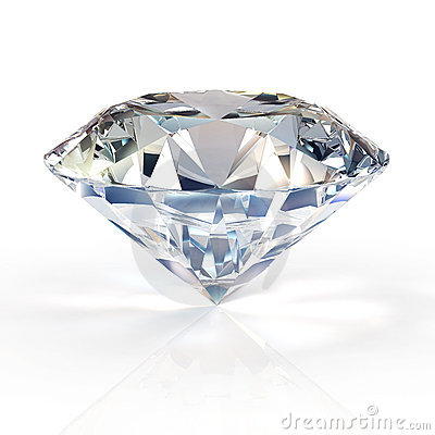 diamond jewel on white background. High quality 3d