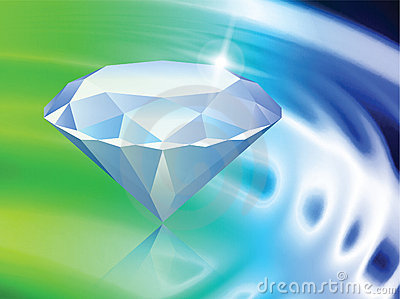 Diamond on Abstract Liquid Wave Background