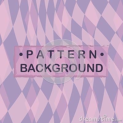 Pastel purple tone diamond background. Vector Illustration