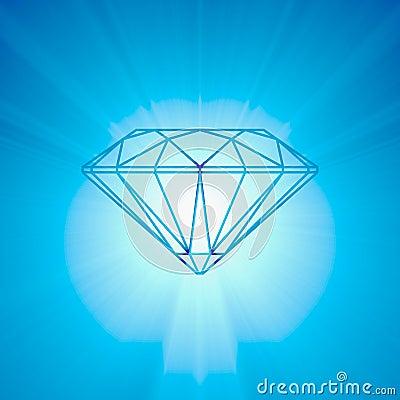 Free Diamond Brilliant Cut Bright Light Flare Royalty Free Stock Photos - 31632418