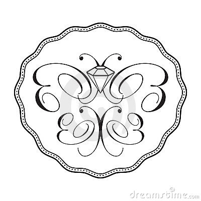 Free Diamond Butterfly Logo - Ornament Royalty Free Stock Photography - 23585717