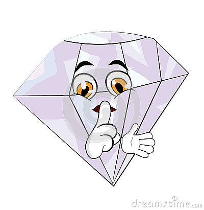 Diamond Cartoon Stock Illustration - Image: 48714163
