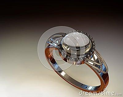 Diamond and Chrystal Ring (In Studio Lighting)