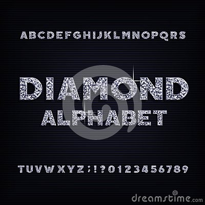 Free Diamond Crystal Alphabet Bold Font. Luxury Jewellery Letters And Numbers. Royalty Free Stock Images - 114847529