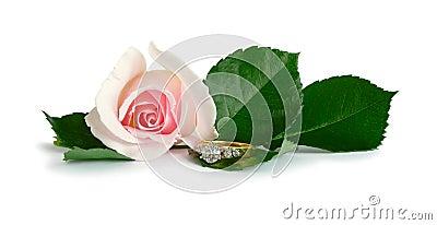 Diamond Engagement Ring Rose