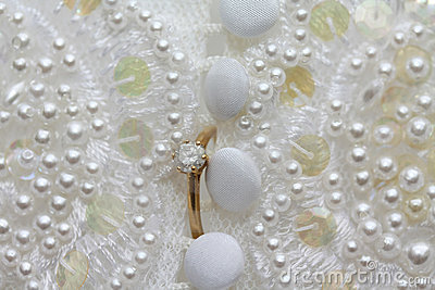 Diamond engagement ring wedding dress