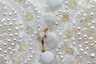 Diamond engagement ring wedding dress