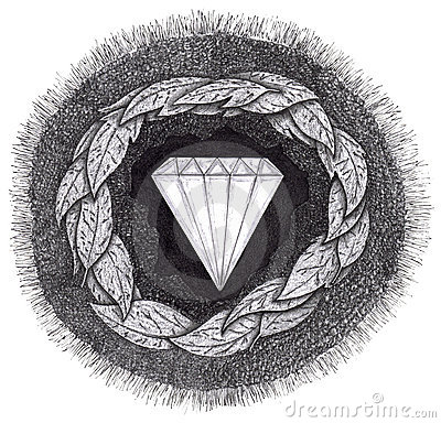 Diamond is formed under great pressure