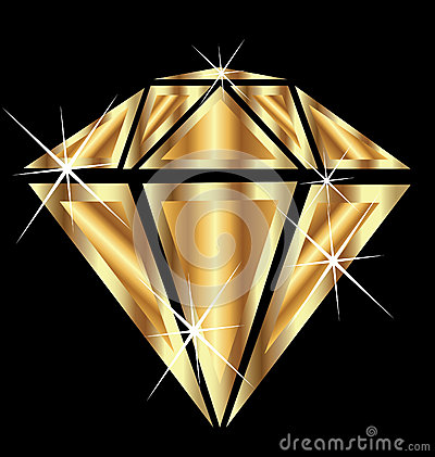Diamond in gold