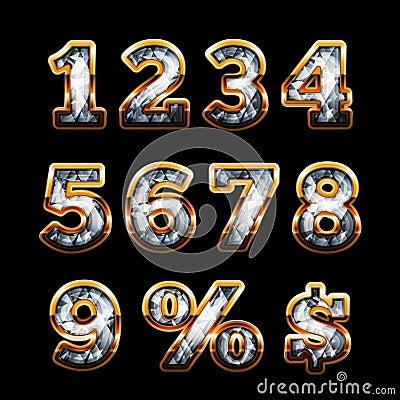 Diamond and gold digits