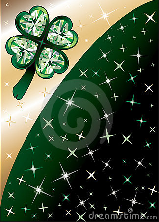 Diamond Green Clover Background