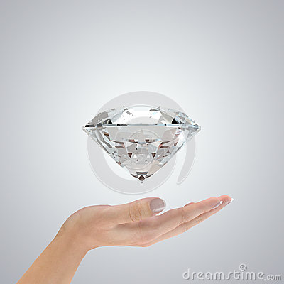 Diamond in hands