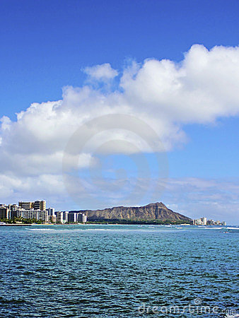 Diamond Head Crater and Waikiki in Honolulu Hawaii