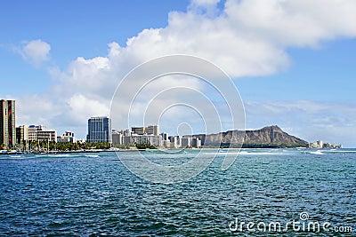 Diamond Head Crater and Waikiki in Honolulu Hawaii