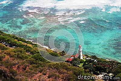 Diamond Head Lighthouse in Honolulu, Hawaii