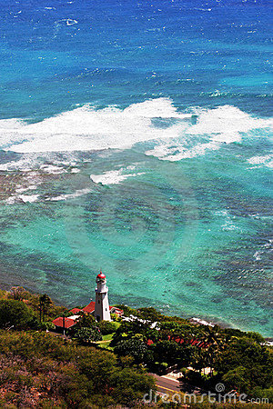 Diamond Head Lighthouse in Honolulu, Hawaii