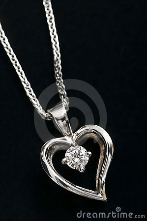 Free Diamond Heart Necklace Stock Photo - 7810860