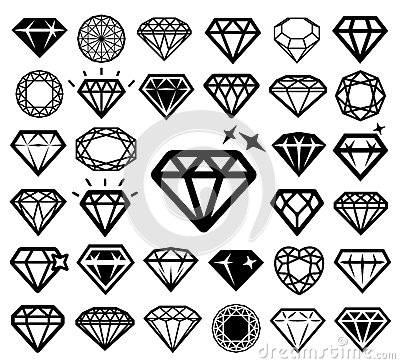 Free Diamond Icons Set. Stock Image - 63478071