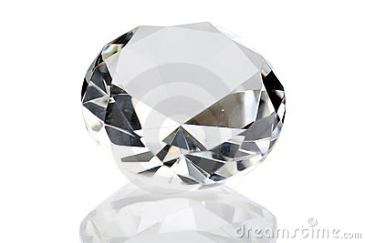 A diamond isolated on white