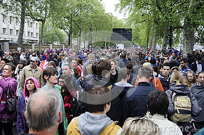 Diamond Jubilee: crowded streets Editorial Stock Image
