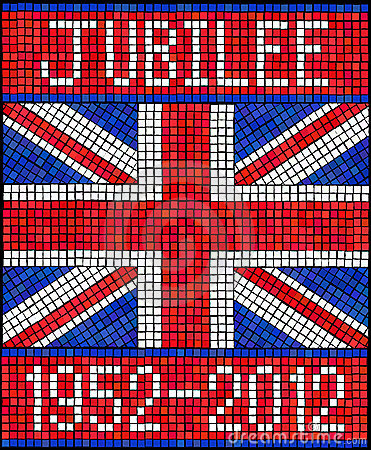 Diamond Jubilee mosaic