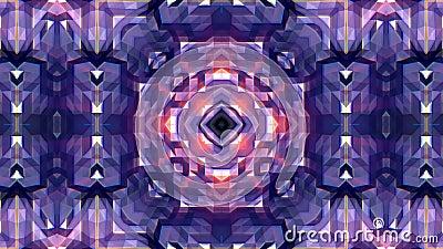 Diamond Kaleidoscope com efeito do brilho ilustração royalty free