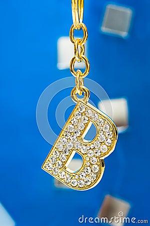 B Letter In Diamond Diamond letter B