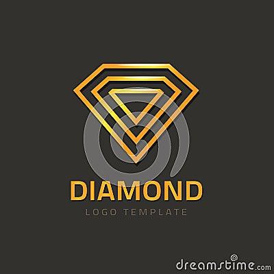 Free Diamond Logotype Vector, Golden Jewel Logo Concept Of Jewelry Brand Royalty Free Stock Image - 78665576