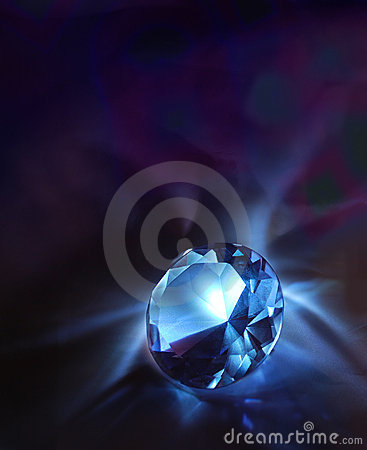 Free Diamond On A Dark Background Stock Image - 7065141