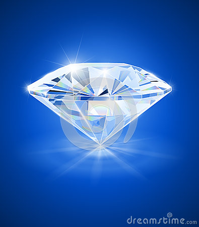 Free Diamond On Blue Background Royalty Free Stock Image - 29315276