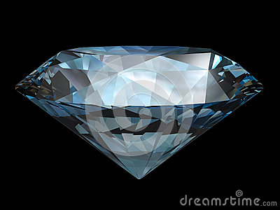 Diamond over black