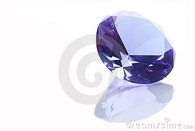 Diamond over a white background