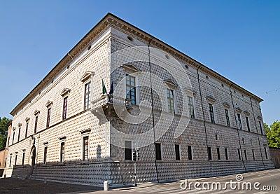 Diamond Palace of Ferrara.