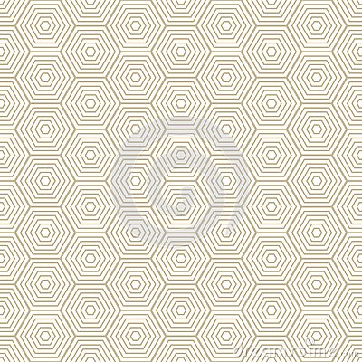 Diamond pattern Modern stylish texture with rhombuses, squares . Seamless vector. Repeating geometric tiles. Gold and white Vector Illustration