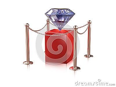 Diamond on pedestal