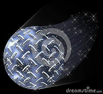 Diamond Plate Planet Comet