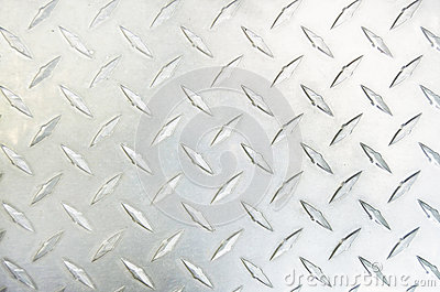 Diamond Plate Silver Metal