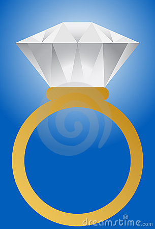 Diamond Ring - Gold Band