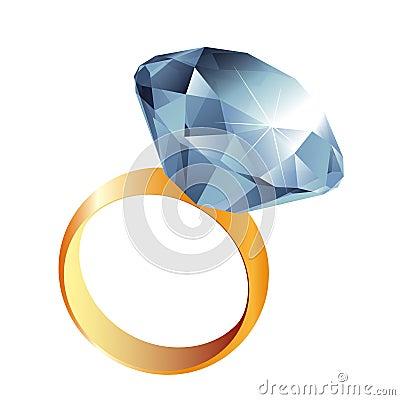 Diamond ring illustration