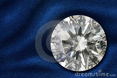 Diamond on satin fabric